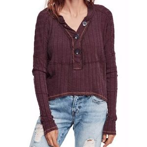 Free People In The Mix Wine NWT